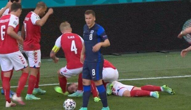 بهت و حیرت در شب دوم یورو 2020؛ ستاره دانمارک وسط بازی بیهوش شد + فیلم