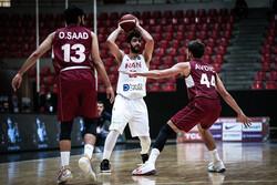 دیدار تیم ملی بسکتبال ایران و قطر