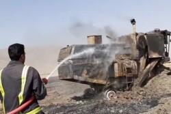 ۱۴ هکتار از گندمزارهای بخش درودزن در آتش سوخت