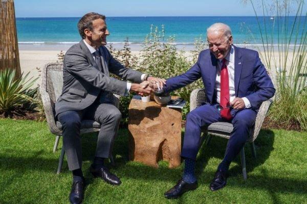 Macron ile Biden'dan G7 görüşmesi