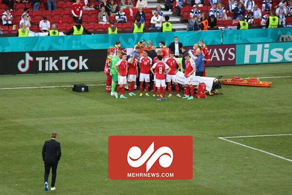 لحظه بیهوش شدن بازیکن دانمارک