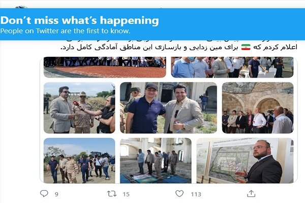 Iran ready to demine, rebuild liberated areas in Karabakh