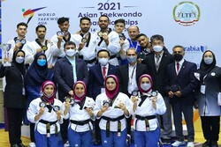 Iran finishes runner up in  Asian poomsae taekwondo c'ships