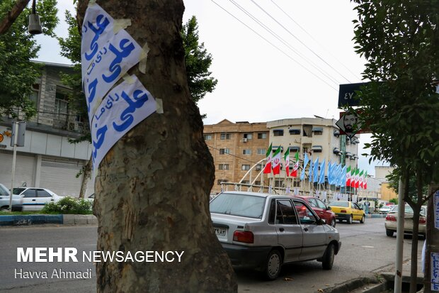 Presidential and City Council election campaigns in Mazandaran