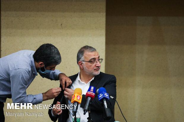 Cumhurbaşkanı adayı Zakani'nin basın toplantısından fotoğraflar