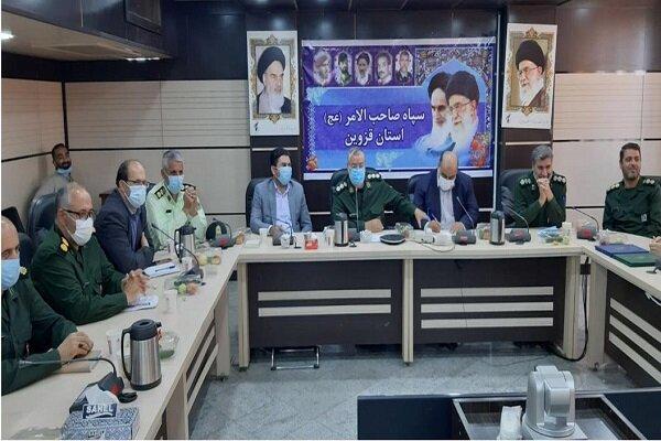 معارفه جانشین جدید قرارگاه پیشرفت و آبادانی سپاه قزوین