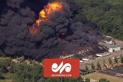 VIDEO: Fire at Illinois chemical plant