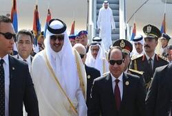 محتوای نامه رئیس جمهور مصر به امیر قطر  اعلام شد
