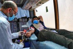 اهدای خون در اتوبوس