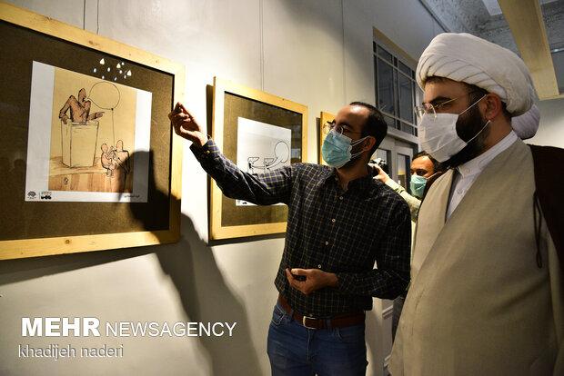 افتتاح نمایشگاه «فصل کارتون یک» با حضور رئیس سازمان تبلیغات اسلامی در خانه هنرمندان اصفهان