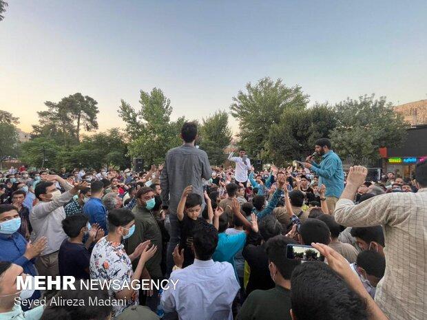 جشن خیابانی دهه کرامت در محله نازی آباد