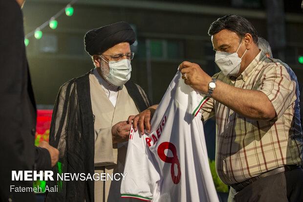 دیدار سید ابراهیم رئیسی با جمعی از اهالی ورزش