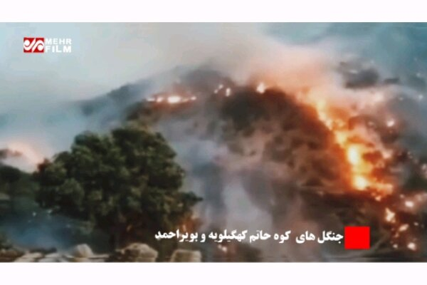 VIDEO: Fire spreads in jungles of Kohgilouyeh