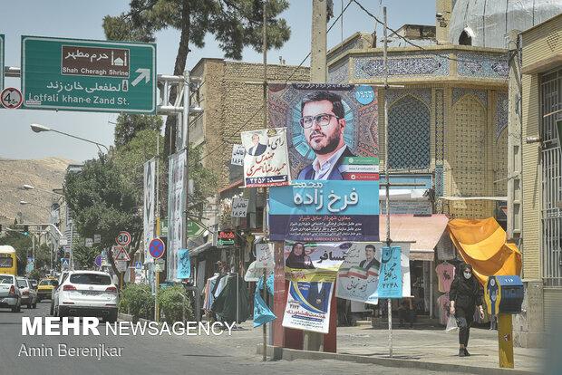 آخرین ساعات تبلیغات انتخابات ۱۴۰۰ در شیراز