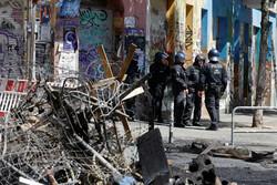 درگیری میان راستگرایان افراطی با نیروهای پلیس در برلین/۶۰ مأمور پلیس زخمی شدند