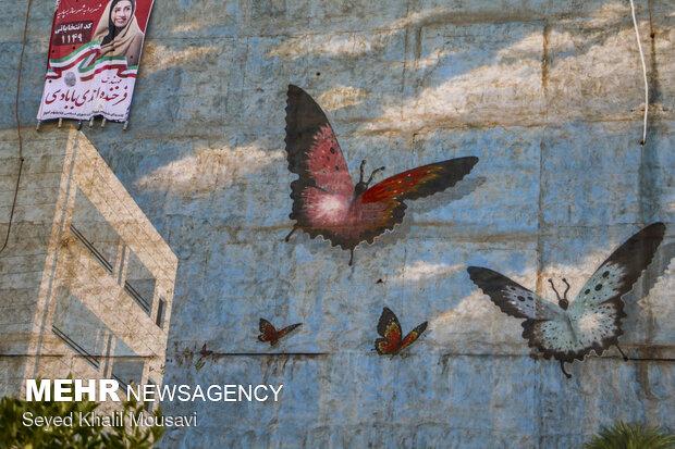 تبلیغات انتخاباتی در خیابان های اهواز