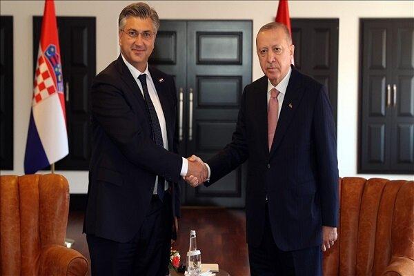 اردوغان با نخست وزیر کرواسی دیدار کرد