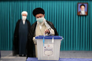 Ayatollah Khamenei casts his vote for Presidential election