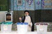 آیت اللہ سید ابراہیم رئیسی نے اپنا ووٹ کاسٹ کردیا