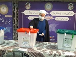 Rouhani casts ballot in Iran's 13th presidential election
