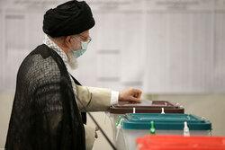 Ayetullah Hamanei 13. Dönem cumhurbaşkanlığı seçimlerine katıldı