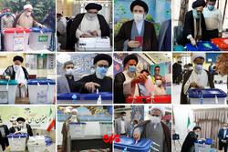 آنچه چهرهها پای صندوق رأی گفتند/ توصیه نمایندگان ولیفقیه به مشارکت در انتخابات