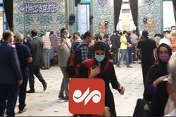 حضور مردم در حوزه رایگیری حسینیه ارشاد