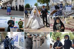 مشارکت ۱۰۰ سالهها/ نوستالژی عروس و داماد پای صندوق/ حضور با عصا و ویلچر و برانکارد!