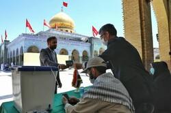 اخذ رای انتخابات ریاست جمهوری در حرم حضرت زینب(س)
