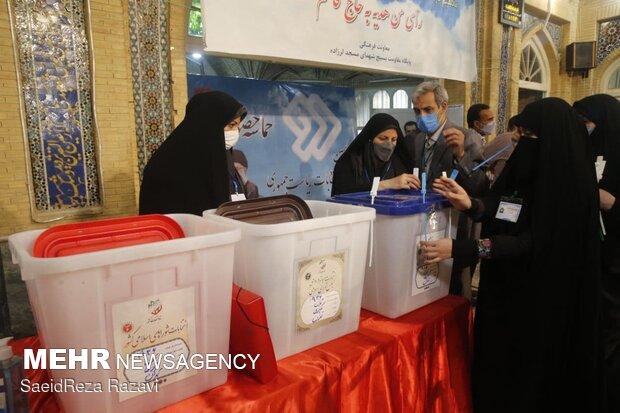 اولین دقایق شروع جشن انتخابات