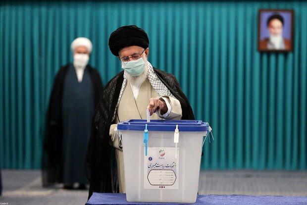 بیانات مقام معظم رهبری پس از شرکت در انتخابات