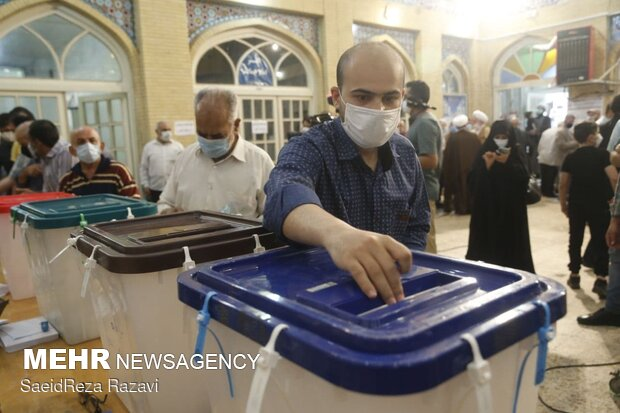 جشن انتخابات - مسجد لرزاده تهران