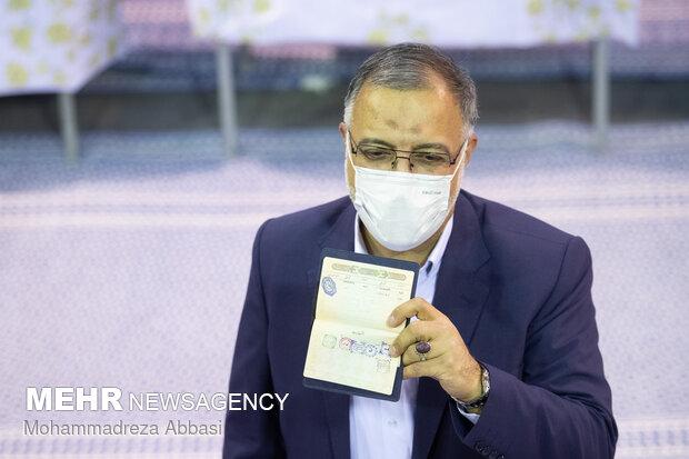 جشن انتخابات - حسینیه جماران تهران