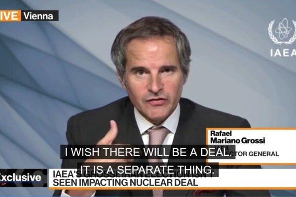 گروسی: توافق آژانس با ایران به مذاکرات وین وابسته نیست
