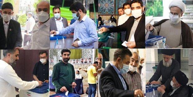 مداحان و سخنرانان مذهبی رأی خود را به صندوق انداختند