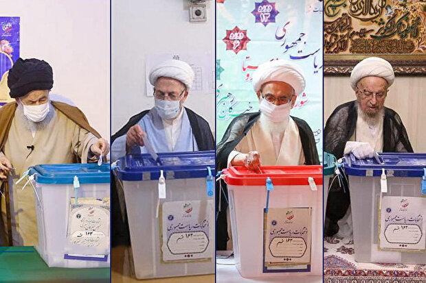 محورهای مهم سخنان مراجع تقلید/کدام نامزدها در استانها رأی دادند؟