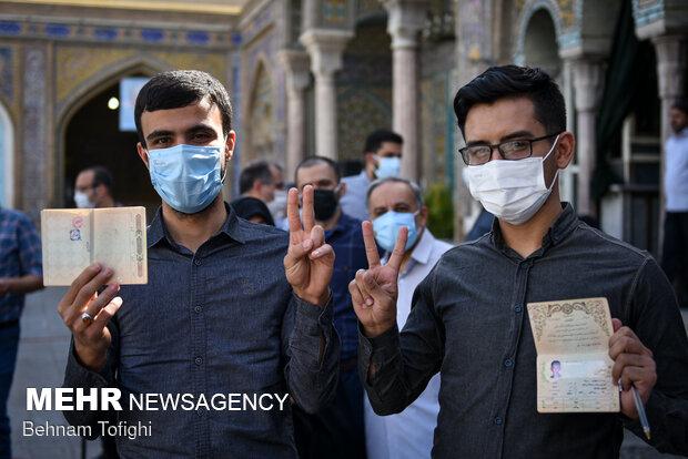 جشن انتخابات- حرم حضرت عبدالعظیم (ع)