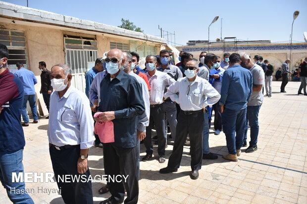 Huzistan eyaletinde halk sandık başında
