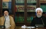 Cumhurbaşkanı Ruhani Ayetullah Reisi'ye tebriğe gitti