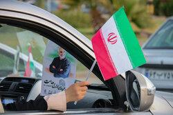 جشن پیروزی هواداران آیت الله سید ابراهیم رئیسی در سمنان