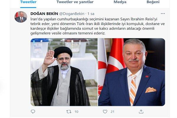 Türkiye Yeniden Refah Partisi'nden Reisi'ye seçim tebriği