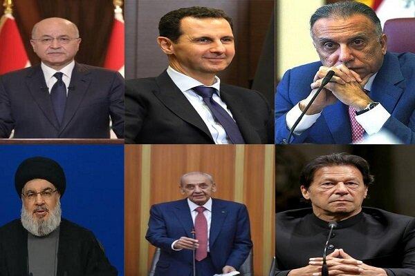 عالمی رہنماؤں کی طرف سے ایران کے نو منتخب صدر کو تہنیتی پیغامات