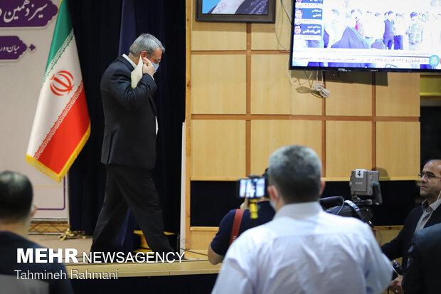 نشست خبری وزیر کشور برای اعلام نتایج انتخابات