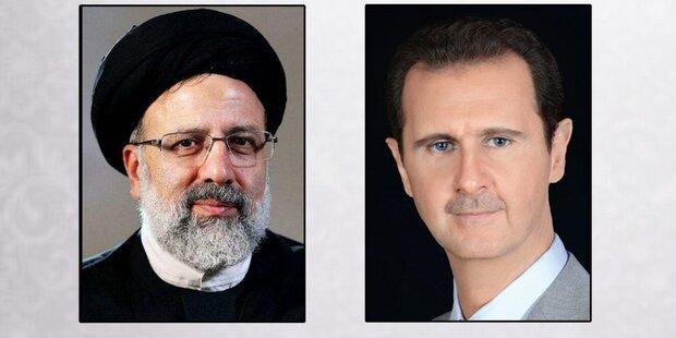 بشار الأسد يهنئ رئيسي بفوزه بالإنتخابات الرئاسية