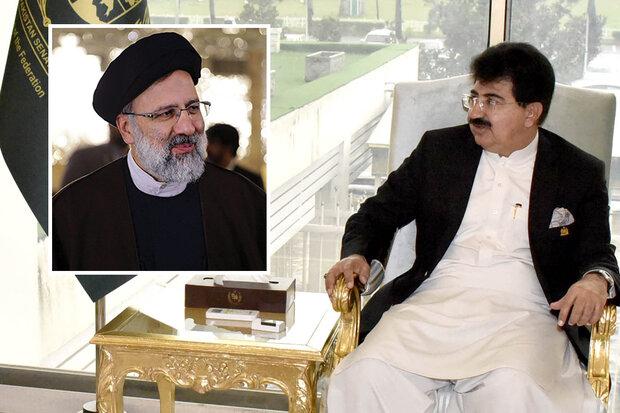 پاکستان کے چیئرمین سینیٹ کی نو منتخب ایرانی صدر سید ابراہیم رئیسی کو مبارکباد