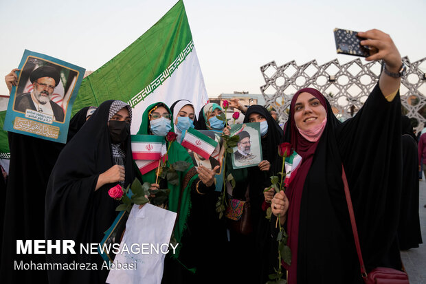 Iranian nation celebrate Raeisi's victory across country