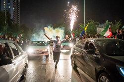 شادی هواداران آیت الله سید ابراهیم رئیسی در شیراز