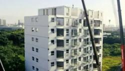 چین میں 28 گھنٹوں ميں 10 منزلہ عمارت تعمیر