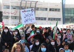جشن پیروزی حامیان سید ابراهیم رئیسی در مشهد