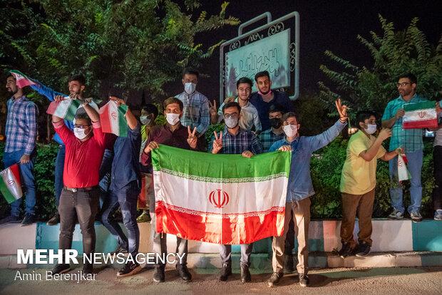 Şiraz kentinde seçim kutlamaları